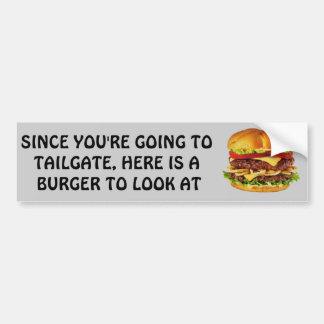 見るべきハンバーガー バンパーステッカー