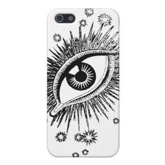 見る神秘的な目の大きい眼球風変わりなおもしろい iPhone 5 ケース