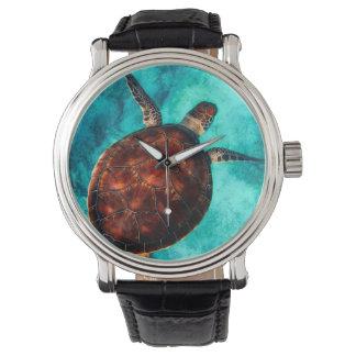 見事なウミガメ 腕時計