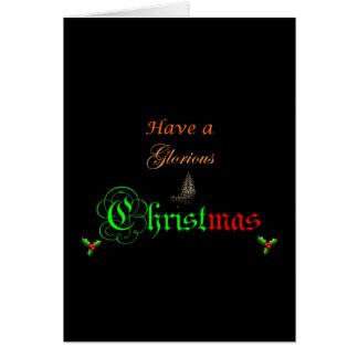 見事なクリスマスの挨拶状を持って下さい グリーティングカード
