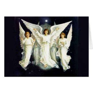 見事な天使のクリスマスカード カード