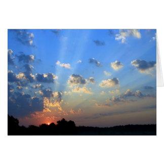 見事な日の出 グリーティングカード