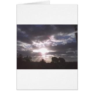見事な空 グリーティングカード