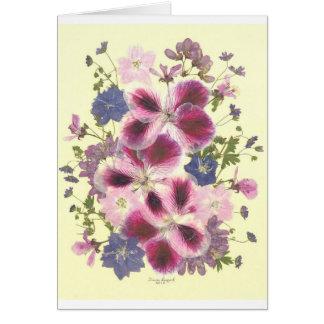 見事な花柄 グリーティングカード