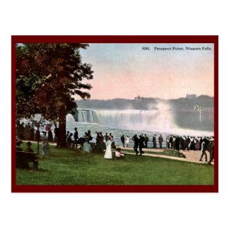 見通しポイント、ナイアガラ・フォールズの1909年のヴィンテージ ポストカード
