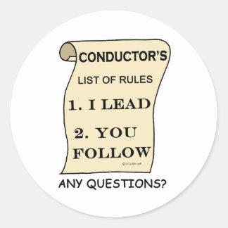 規則のコンダクターのリスト ラウンドシール