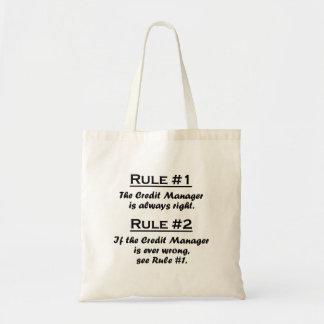 規則の信用のマネージャー トートバッグ