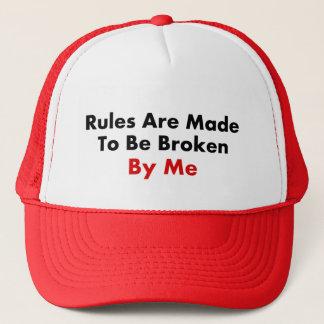 規則は私によって壊されるためになされます キャップ
