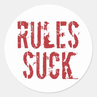 規則は-質問権限の無政府主義者を吸います ラウンドシール