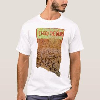 規則を楽しんで下さい Tシャツ