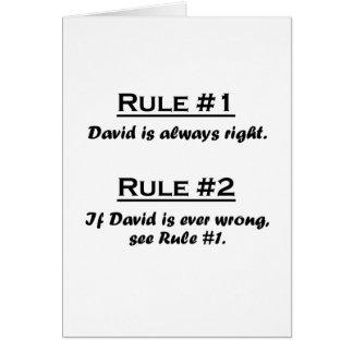 規則デイヴィッド カード