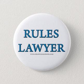 規則弁護士 5.7CM 丸型バッジ