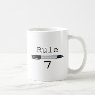 規則7 (ロゴ) コーヒーマグカップ