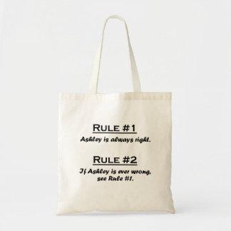 規則Ashley トートバッグ