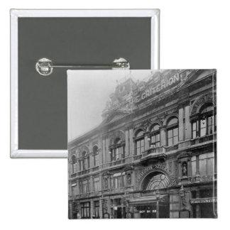 規準RestaurantおよびTheatre 1902年 5.1cm 正方形バッジ