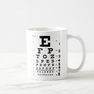 視力検査表 コーヒーマグカップ