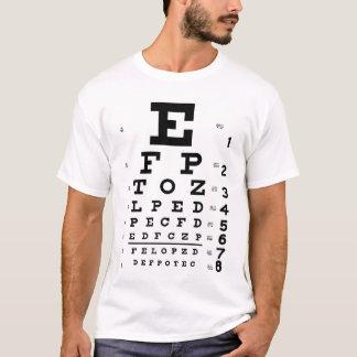 視力検査表 Tシャツ