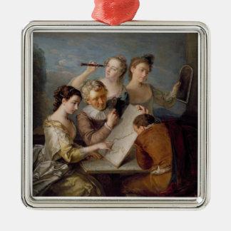 視力、c.1744-47 (キャンバスの油)の感覚 メタルオーナメント
