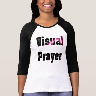 視覚祈りの言葉3/4の袖のRaglanのTシャツ Tシャツ