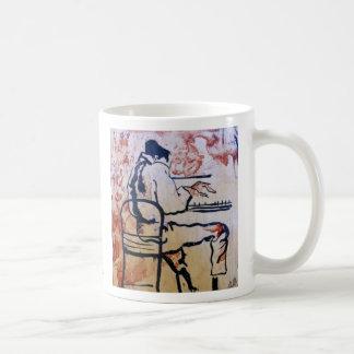 視覚青: 芸術家のコーヒー・マグ コーヒーマグカップ