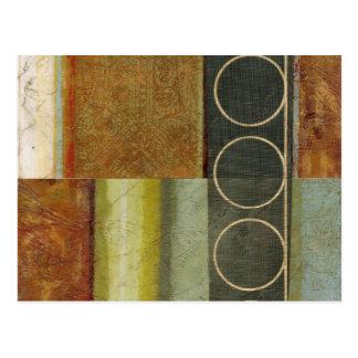 視野のスタジオによる数々の織り目加工の抽象的な絵画 ポストカード