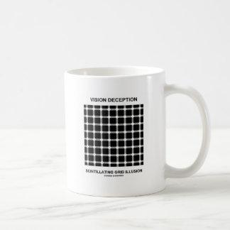 視野の詐欺の火花を発する格子錯覚 コーヒーマグカップ