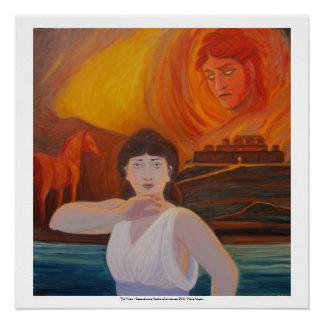 視野- Cassandraおよびアポロ ポスター