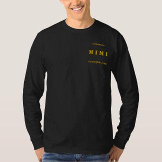 覚えて下さいMIMI -メンズの黒いLong-sleeved長袖シャツ Tシャツ