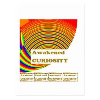 覚醒させた興味: ユニークな芸術nの知恵の単語 ポストカード