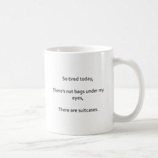 親の疲労の俳句のマグ コーヒーマグカップ
