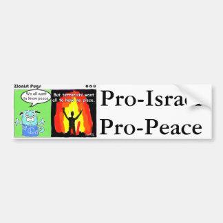 親イスラエル共和国の親平和バンパーステッカー バンパーステッカー