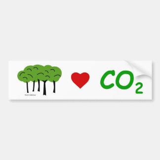 親二酸化炭素のバンパーステッカー バンパーステッカー