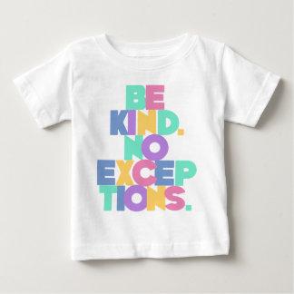 親切が例外、数々のなパステルあないで下さい ベビーTシャツ