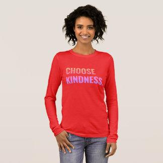 親切さの心地よい長袖のティーを選んで下さい Tシャツ