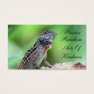 親切さカードのトカゲの偶然の事故 名刺