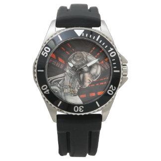 親切なバーチャルリアリティのサイエンスフィクションの腕時計の1つ 腕時計