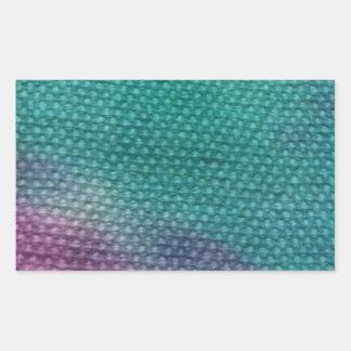 親切な絞り染めのデザインのユニークな1つ 長方形シール
