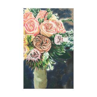 親切な花の花束のMonotypeのプリントの1つ キャンバスプリント