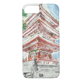 親切なShintennoujiの寺院のiPhoneの例の1つ iPhone 8/7ケース