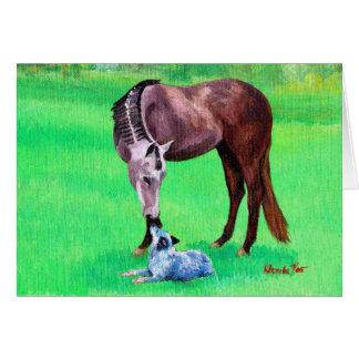親友のクォーター馬犬の空白のなカード カード