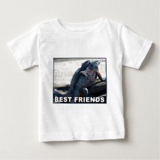 親友の乳児のTシャツ ベビーTシャツ