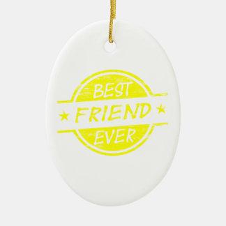 親友の黄色 セラミックオーナメント