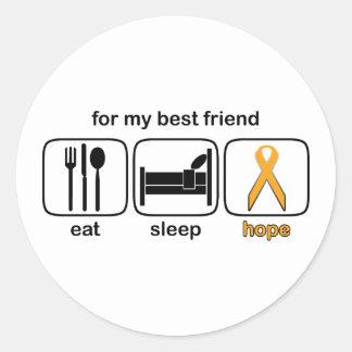 親友は睡眠の希望-白血病--を食べます ラウンドシール