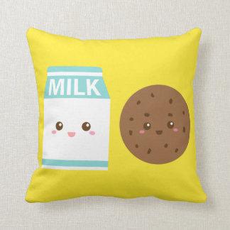 親友永久に、かわいいミルクおよびクッキー クッション