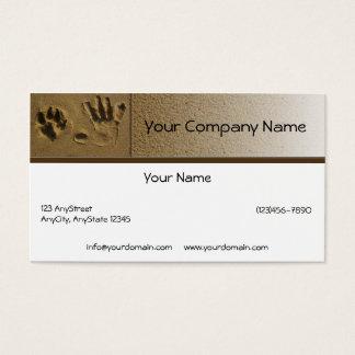親友犬の足および手のプリント 名刺