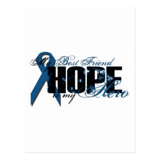 親友私の英雄-結腸癌の希望 ポストカード