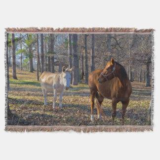 親友馬およびろばのブランケット スローブランケット