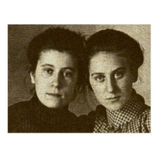 親友1901年: エマCraley及びAddie Zarfos ポストカード