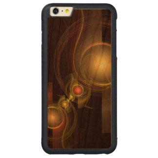 親密なつながりの抽象美術 CarvedチェリーiPhone 6 PLUSバンパーケース