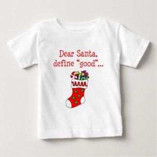 親愛なるサンタはよい定義します ベビーTシャツ